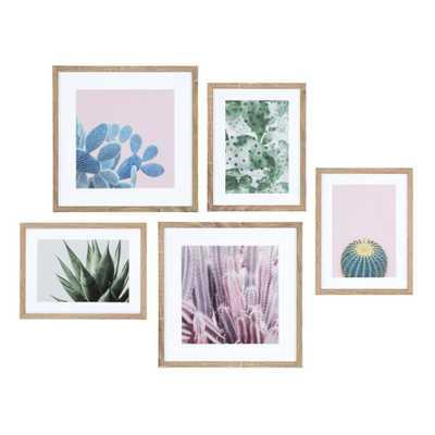 Kate and Laurel Modern Cactus Framed Canvas Wall Art Set, Natural - Home Depot