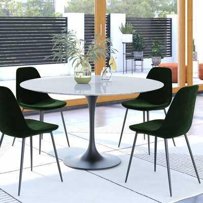 Aisha Velvet Upholstered Side Chair - Wayfair