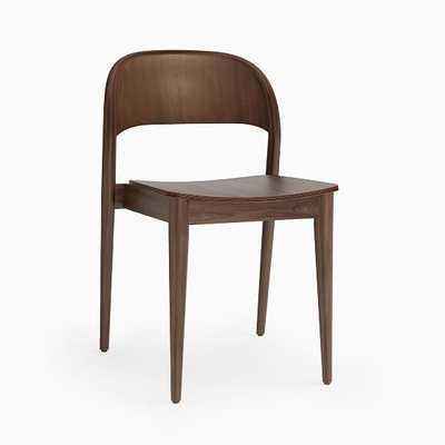 Hunter Shaped Wood Stacking Chair, Walnut Wood, Dark Walnut - West Elm