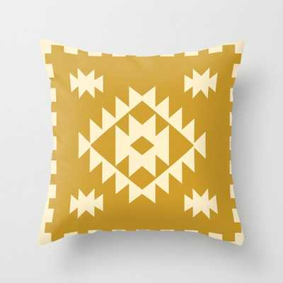 "Zili In Gold Couch Throw Pillow by Becky Bailey - Cover (20"" x 20"") with pillow insert - Outdoor Pillow - Society6"