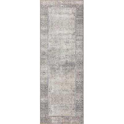 Vache Power Loom Silver/Gray Rug - Wayfair