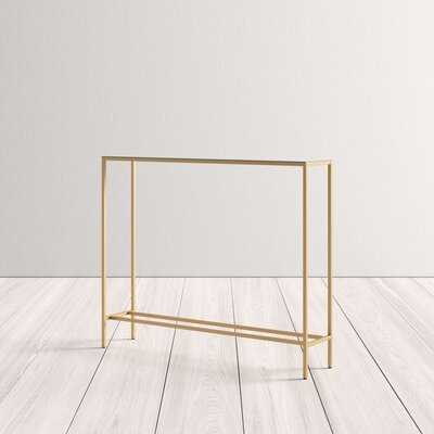 Shay Console Table with Mirrored Top - AllModern