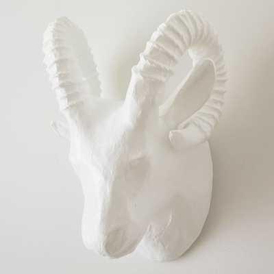 Papier-Mache Animal Sculpture, Ram Head, Large - West Elm
