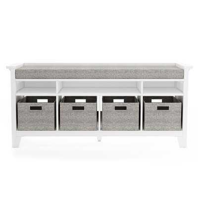 Martha Stewart Living & Learning Kids Solid Wood Shelves Storage Bench - Wayfair