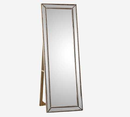 Livermore Floor Mirror, Gold - Pottery Barn