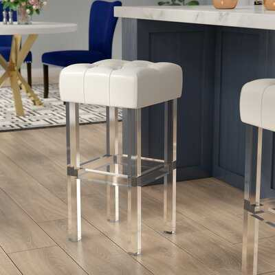 "Janice Upholstered 26"" Bar Stool - Wayfair"