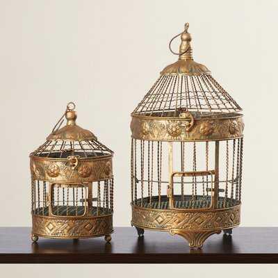 Innaloo 2 Piece Decorative Bird House Set - Wayfair