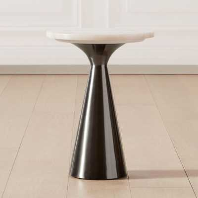 Nina Small Rose Quartz Side Table - CB2