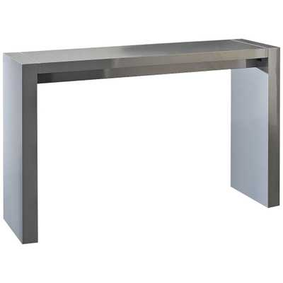 Velia High-Gloss Gray Contemporary Bar Table - Style # 8T409 - Lamps Plus