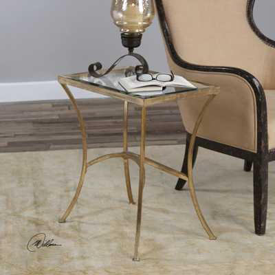 Alayna Gold End Table - Hudsonhill Foundry