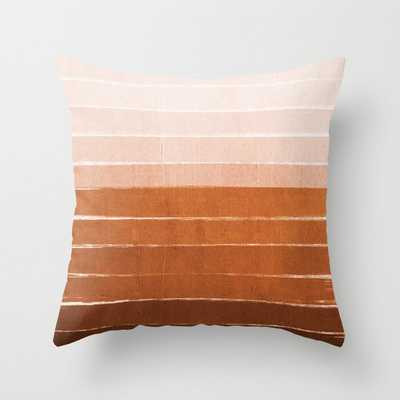 """Sunset - Rust, Terracotta, Clay, Desert, Sunshine, Boho, Ombre, Paint, Sunset Colors, Couch Throw Pillow by Charlottewinter - Cover (20"""" x 20"""") with pillow insert - Society6"""