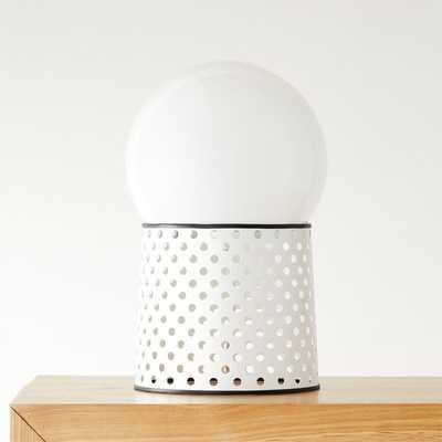 Voss White Globe Table Lamp - CB2
