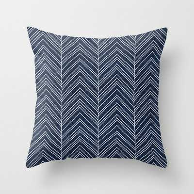 """Strand In Navy Couch Throw Pillow by Becky Bailey - Cover (18"""" x 18"""") with pillow insert - Outdoor Pillow - Society6"""
