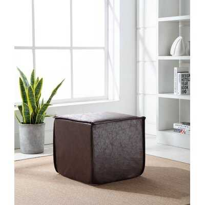Vision Leather Pouf - Wayfair