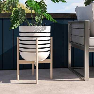 Borrero Handcrafted Fiber Clay Pot Planter - AllModern