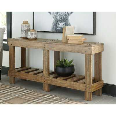 "Dente 64"" Solid Wood Console Table - Wayfair"