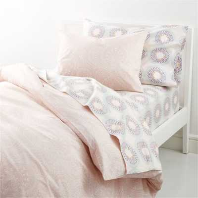 Printed Eyelet Twin Duvet Cover - Crate and Barrel