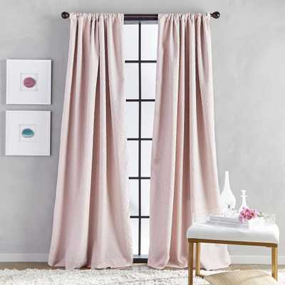 CHF SOUTH Bloomsbury Microsculpt Room Darkening 52 in. W x 108 in. L Rod Pocket Curtain Panel in Blush - Home Depot