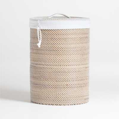 Sedona White Hamper with Liner - Crate and Barrel