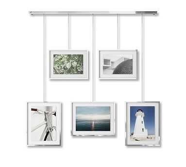 Hanging Chrome Gallery Frames, Set of 5 - Pottery Barn