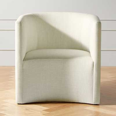 Covet Snow Curved Chair - CB2