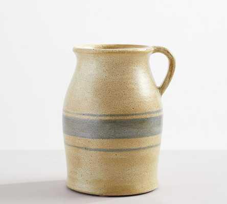 Chambray Ceramic Vase, Medium Jug, Blue - Pottery Barn