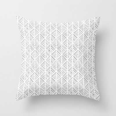 """Abstract Leaf Pattern In Gray Couch Throw Pillow by Becky Bailey - Cover (20"""" x 20"""") with pillow insert - Indoor Pillow - Society6"""