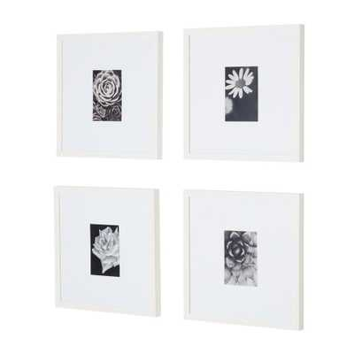 StyleWell White Frame with White Matte Gallery Wall Picture Frames (Set of 4) - Home Depot