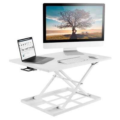 Harvey Ergonomic Height Adjustable Standing Desk Converter - Wayfair