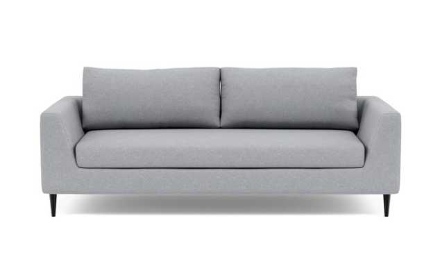 Asher Sofa with Grey Gris Fabric and Unfinished GunMetal legs - Interior Define