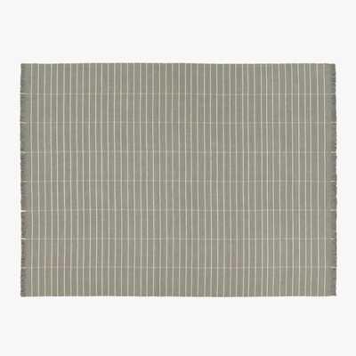 Reed Grey/White Stripe Rug 9'x12' - CB2