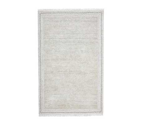 Stain Resistant Braided Border Rug, 3x5 Feet, Gray - Pottery Barn Kids
