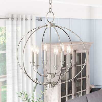 Freund 6 - Light Candle Style Globe Chandelier - Wayfair