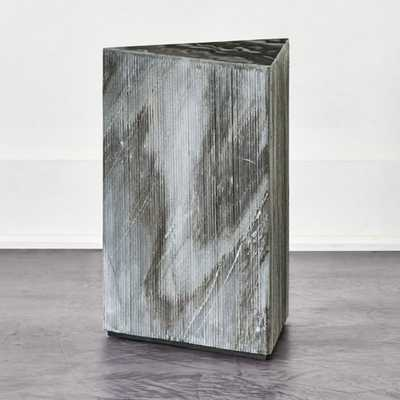 Tri Textured Grey Marble Side Table - CB2