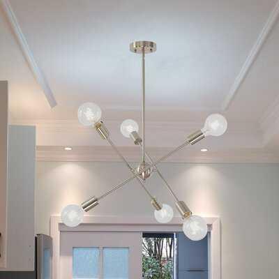 Hairston 6 - Light Sputnik Sphere Chandelier - Wayfair