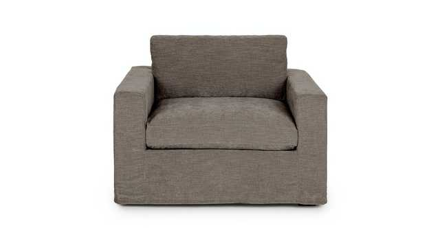 Alzey Geo Gray Slipcover Lounge Chair - Article