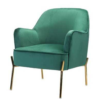 Mercer41 Erastus Armchair in Green Velvet - Wayfair