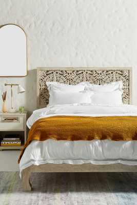 Washed Percale Clementine Duvet Cover - Anthropologie
