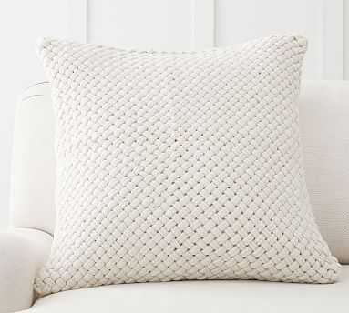 "Odette Textured Pillow Cover, 24 x 24"", Ivory - Pottery Barn"