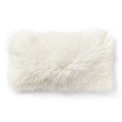 Donna Karan Flokati Wool Lumbar Pillow Color: Ivory - Perigold