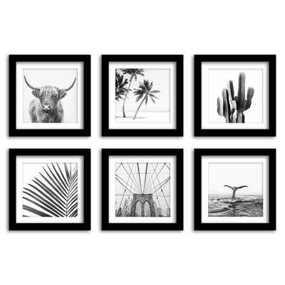 Americanflat Black And White Travel Photography - 6 Piece Framed Gallery Wall Set - Wayfair