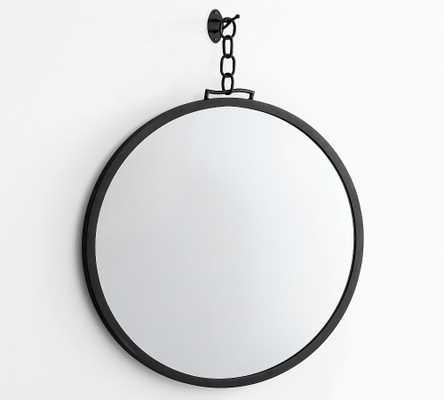 "Vista Circular Wall Mirror with Chain, Bronze, 36""W x 34""H - Pottery Barn"