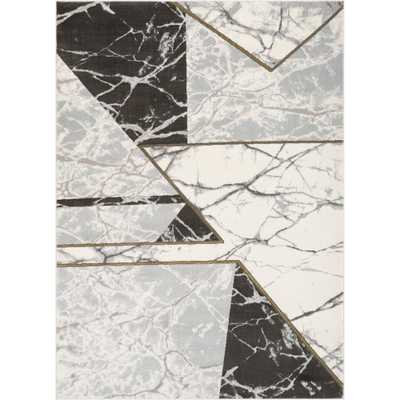 Well Woven Fairmont Weston Retro Geometric Marble Pattern Grey 8'x10'x. Glam Area Rug - Home Depot