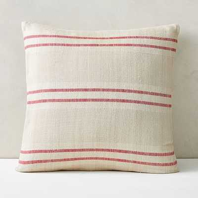 "Silk Stripes Pillow Cover, 20""x20"", Dark Red - West Elm"