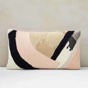 """Shape Block Study Pillow Cover, 12""""x21"""", Blush - West Elm"""