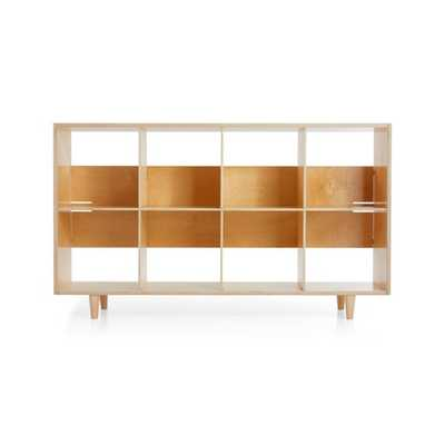 Sprout Natural 8 Cubby Birch Bookcase - Crate and Barrel