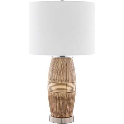 SURYA CARPET Eli 25 in. Dark Brown Indoor Table Lamp - Home Depot