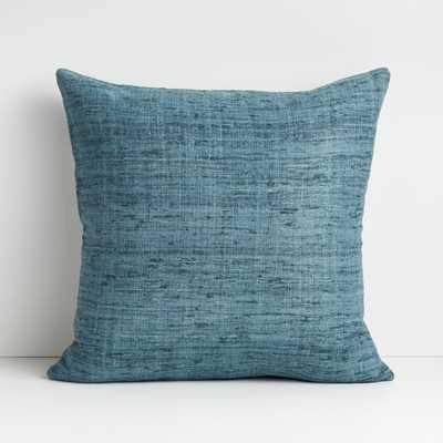 """Trevino 20"""" Aqua Pillow Cover - Crate and Barrel"""