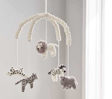 Safari Animals Felted Ceiling Mobile - Pottery Barn Kids