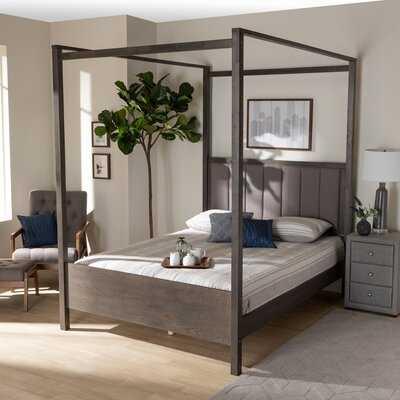 Enon Tufted Canopy Bed - Wayfair